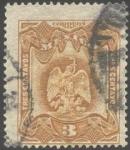 Stamps Mexico -  Águila mitológica devorando serpiente.