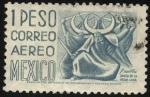Sellos de America - México -  Puebla. Danza de la media luna.