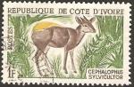 Sellos del Mundo : Africa : Costa_de_Marfil : fauna, cephalophus sylvicultor