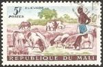 Stamps : Africa : Mali :  pastor cuidando rebaño