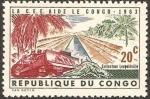 Sellos de Africa - República del Congo -  recolectando