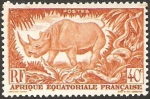 Stamps Africa - Central African Republic -  rinoceronte