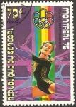 Sellos del Mundo : Africa : Senegal : olimpiada en montreal 76, gimnasia