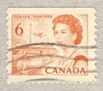 Stamps America - Canada -  Queen Elizabeth II, Transport and Communications