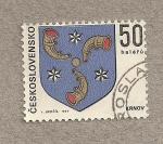 Stamps Czechoslovakia -  Escudo de Krnov