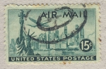 Stamps United States -  Lockheed Constellation over New York