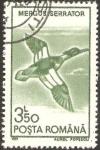 Stamps : Europe : Romania :  fauna, mergus serrator