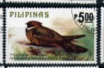 Sellos de Asia - Filipinas -  ave autoctona