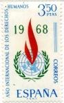 Stamps Spain -  Año Internacional Derecho Humanos