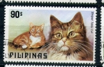 Sellos de Asia - Filipinas -  Striped tabby cat