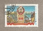 Sellos de Europa - Rusia -  60 Aniv. de la república de Karakapak