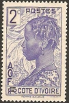 Stamps Africa - Ivory Coast -  mujer baloue
