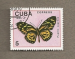 Sellos de America - Cuba -  Mariposa:Papilio zagreus
