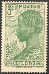 Stamps Ivory Coast -  mujer baloue