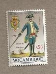 Stamps Mozambique -  Oficial de infantería