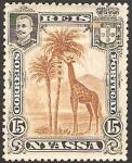 Stamps Mozambique -  nyassa - carlos 1º, jirafa