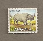 Sellos de Africa - Angola -  Rinoceronte