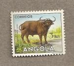Sellos de Africa - Angola -  Búfalo