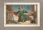 Stamps Mongolia -  Copérnico en el laboratorio