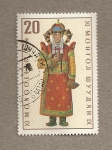 Stamps Mongolia -  Vestidos regionales: Mujer Khalkha