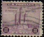Sellos de America - Estados Unidos -  USA 1933 Scott 729 Sello Chicago Century Of Progress Federal Building  usado Estados Unidos Etats Un