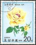 Sellos de Asia - Corea del norte -  flora, rosa