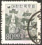 Stamps Asia - South Korea -  templo