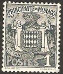Sellos de Europa - Mónaco -  escudo del principado