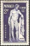 Stamps Monaco -  escultura de f. j. bosio, pluton