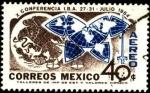 Stamps Mexico -  Escudo de México y mapa mundial. X Conferencia I.B.A. Asociación Internacional de Abogados