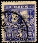 Stamps America - Mexico -  Estatua de Cuauhtemoc último emperador mexicas.