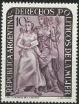 Stamps Argentina -   Derechos políticos de la mujer