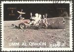 Sellos de Asia - Emiratos Árabes Unidos -  umm al qiwain, andando en vehiculo por la luna