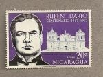 Stamps Nicaragua -  100 Aniv Ruben Darío