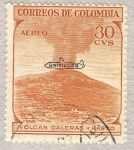Stamps Colombia -  Volcan Galeras-Pasto