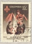 Stamps Colombia -  1931-1961 30 años de los scouts de Colombia