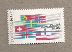 Sellos de Europa - Portugal -  25 Aniv. de la EFTA