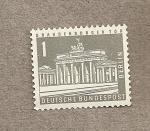 Stamps Germany -  Puerta Brandeburgo Berlín