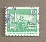 Stamps Germany -  calle del Ayuntamiento de Berlín