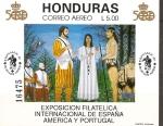 Stamps America - Honduras -  DESCUBRIMIENTO  DE  AMÉRICA