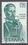 Sellos de Europa - España -  Forjadores de America. Manuel de Castro y Padilla.