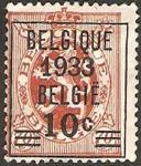 Sellos del Mundo : Europa : Bélgica : leon rampante, sobreimpreso belgique 1933 belgie