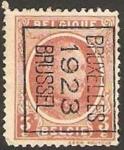Sellos del Mundo : Europa : Bélgica : alberto I, sobreimpresion bruxelles 1923 brussel