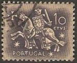 Sellos de Europa - Portugal -  caballero medieval
