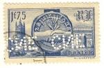 Stamps France -  Visite des souverains britanniques