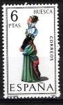 Stamps Spain -  Trajes típicos españoles. Huesca.
