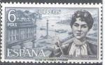 Sellos de Europa - España -  Personajes españoles. Rosalía de Castro.
