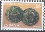Stamps Spain -  XIX  Centenario de la Legio VII Gémina, fundadora de León. Moneda de Galba.