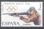 Stamps Spain -  XIX Juegos Olímpicos de Méjico.Tiro Olímpico.