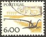 Stamps Portugal -  tractor y arado